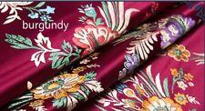 Retro Chinese Satin Floral Fabric Begonia Damask Brocade DIY Bag Clothes Craft