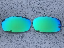 POLARIZED GREEN MIRRORED REPLACEMENT OAKLEY SQUARE WIRE 2.0  LENSES