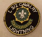 """L 3/2 CAVALRY"""" """"LIGHTNING""""  PATCH EMB ON TWILL        BILL WISE'S COLLECTION"""
