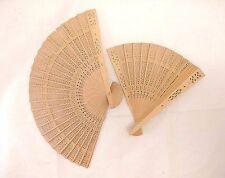 2 PC Chinese/ Japanese Bamboo Folding Fan/ HAND FAN - USA SELLER