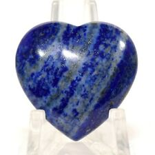 30mm Rich Blue Lapis Lazuli Heart Polished Crystal Mineral - Afghanistan (1PC)