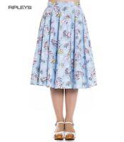 Hell Bunny Pin Up Rockabilly 50s Skirt ANDRINA Mermaid Seahorse Blue All Sizes