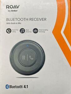 Roav Bluetooth 4.1 Receiver by Anker, Noise Canceling Hands-Free Calling NIB New