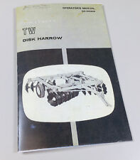 OPERATORS MANUAL FOR JOHN DEERE TW DISK HARROW