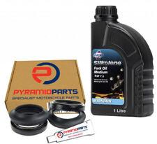 Fork Oil Seals Dust Seals & 1L Oil for Honda 125 150 FES Pantheon