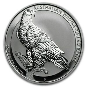 2016 Perth Mint Aust. WEDGE TAILED EAGLE 1 oz .999 Silver bu Coin in PM Capsule