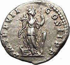 SEPTIMIUS SEVERUS 199AD Ancient Silver Roman Coin Fortuna Luck  i52306