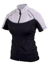 Womens Netti Diva Flash Jersey Short Sleeve Cycling Jersey White/Black  Size 12
