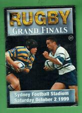 #Kk. Rugby Union Program - 2/10 1999, Sydney University V Eastwood Grand Final