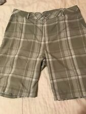Men's Ping Plaid 100% POLY GOLF SHORTS WAIST 36