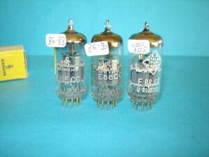 3x valvole E88CC = 6922 = CCa provate + che buone. Tube Röhre Lampe.