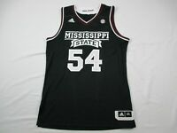 Mississippi State Bulldogs adidas Jersey Men's Black Poly Used Multiple Sizes