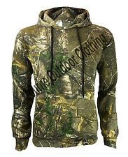 Mens Camouflage Real Tree Camo Pull Over Hunting Fleece Hoodie Shooting Fishing
