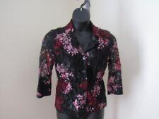 INC International Concepts Petite Blazer Jacket Floral Lace 3/4 Sleeve Medium