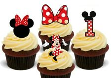 Minnie Mouse 1st Birthday mix-12 Stand Up Premium Card Cupcake Cake Toppers