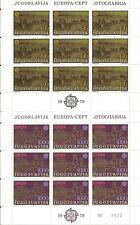 YUGOSLAVIA EUROPA cept 1979 Sin Fijasellos MNH  - Hoja bloque / Souvenir Sheet