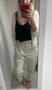 MHL Margaret Howell blush cotton twill chino trousers Small Medium Pockets