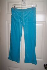 FGF JUNIORS BLUE VELOUR FLARE SWEATPANTS WITH NO SIZE TAG!