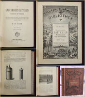 Hartleben's Elektro-technische Bibliothek Bd 4 Die galvani. Batterien 1883 sf