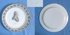 Assiette Faïence Fine CHOISY: LOUIS XVI / PériodeP & H début XIXè