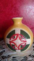 Round Vase Retro MCM VTG Celtic Knotwork Design Irish Scottish Swirl 1950s -1960