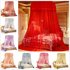 Princess Bed Canopy Netting Curtains Mosquito Net Bedding Dome Hanging King Size
