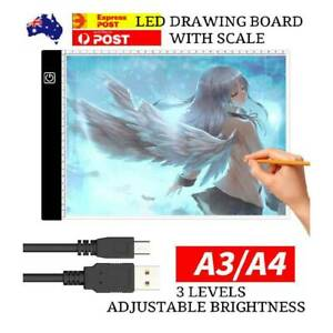 A3/A4 LED Light Box Pad With Scale Tracing Drawing Board Design Copy Lightbox