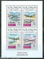 SOLOMON ISLANDS 2014 AUSTRALIAN AVIATION  SHEET   MINT NH