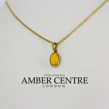 Italian Made Unique Butterscotch Amber Pendant in 9ct Gold GP0006Y RRP£160!!!