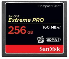 256GB SanDisk Extreme Pro 160MB/sec x1100 Speed Compact Flash CF Card - 256 GB