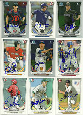 2014 Bowman DANIEL ROBERTSON Signed Card RAYS auto rc A'S UPLAND, CA