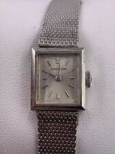 Vintage Womens LeCoultre K840 17 Jewels White Gold Filled Watch