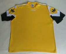 Vintage 90's Adidas Short Sleeve Football Yellow T-Shirt Trefoil Jersey Size L