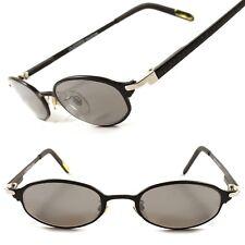 Black Hippie Vintage 60's Retro Urban Mens Womens Cool Small Oval Sunglasses F31