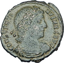 CONSTANTINE I the GREAT 330AD Authentic Ancient Roman Coin w SOLDIERS i65972