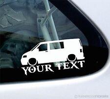 Custom Text,LOW Volkswagen VW T5 Kombi transporter Van silhouette Sticker /Decal