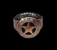 Western Decorament Antiqued Copper Star Adjustable Concho Ring/Scarf Slide Kit
