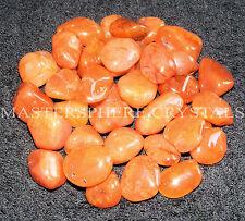 15 x Carnelian Tumblestones A Grade Crystal Gemstone 12mm-17mm Wholesale Bulk