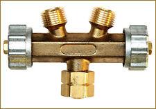 Gasverteiler (3/8 Zoll): 2 Brenner an einer Gasflasche!