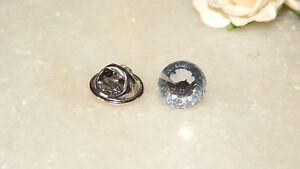 S/P Tie Tack/Cravat/Scarf/Lapel/Modesty Pin & 10mm Faceted Resin Stones - Unisex