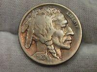 Key Date VF+ 1920-d Buffalo Nickel - ¾ Horn.  #7