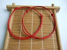 1 x Red Leather Cord Lucky Bracelet Anklet Adjustable For Men Women Surf