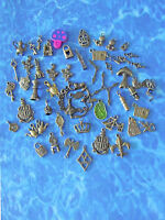 50pc Gold Plated Yorkshire Terrier Dog Charms 5812