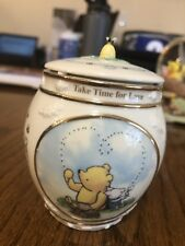 "Disney Classic Winnie The Pooh 2000 Porcelain Music Box With Lid 3 3/4""h"