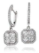 Diamond Drop Earrings 1.10ct F VS in 18ct White Gold