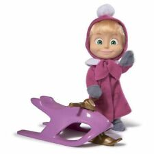 Doll Masha and The Bear Playset With Snow Sled Toy cartoon characters