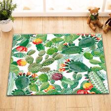 "Summer Cactus Floor Rug Anti-Slip Bath Mat Kitchen Carpet Bedroom Decor 15X23"""