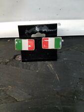 Italian Flag Italy Cufflinks Sterling Silver New