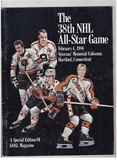 Mario Lemieux & Gordie Howe Signed 1986 Nhl All-Star Game Program Jsa Autograph