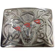 Scottish Highland Kilt Belt Buckle Stag Head Design High Quality Chrome Finish